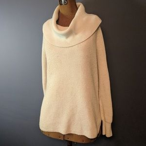 Michael Kors off white cowl neck sweater